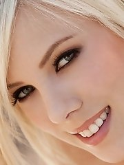 Bibi Jones removes her shirt and skirt